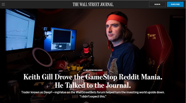 WSJ Interview of Keith Gill
