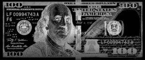 Negative $100 bill