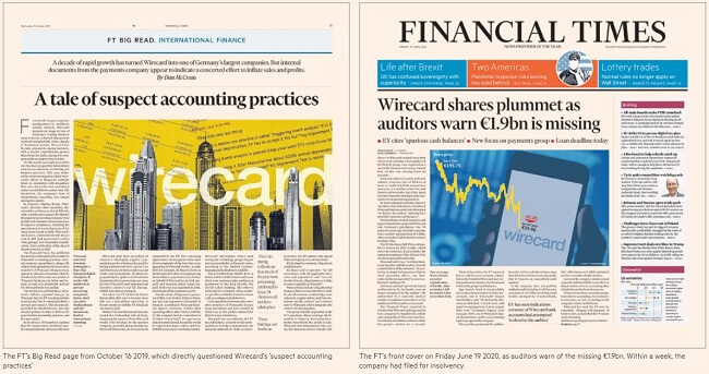 Ft's WireCard cover stories