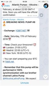Pump-and-dump pre-announcement