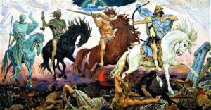 Four Horsemen of the Apocalypse - Viktor Mikhaylovich Vasnetsov- 1887