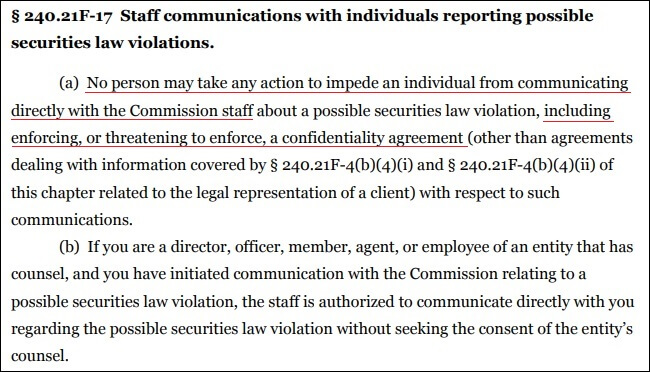 SEC Rule 21F-17