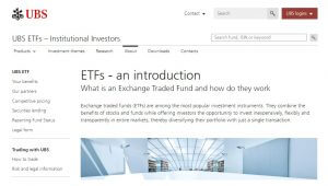 UBS ETF Research