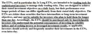 XIV risk factors - First page
