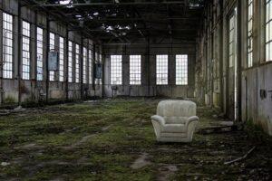 Empty-chair-in-a-ruin